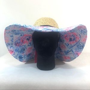 Lilly Pulitzer Sea to Shining Sea Wide Brimmed Hat